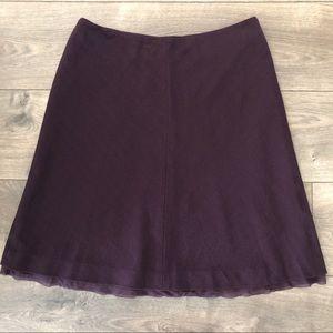 Ann Taylor Plum Wool Skirt